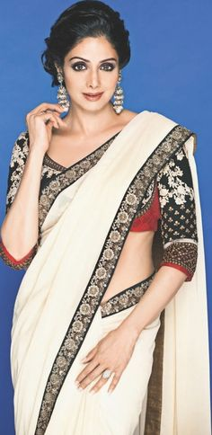 Sridevi in a Sabyasachi saree