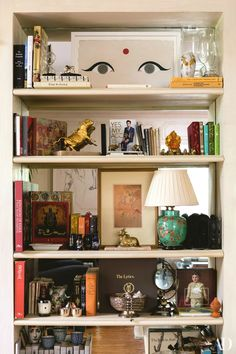 The Big Bang Theory actor Kunal Nayyar and Hensely designer Neha Kapur give us a peek inside their transformed Los Angeles home Unique Home Decor, Cheap Home Decor, Interior Inspiration, Design Inspiration, Wood Floating Shelves, Big Bang, Vintage Decor, Vintage Books, Los Angeles Homes