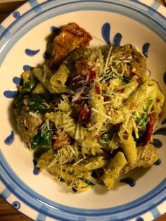 Kris' Kitchen: The Culinary Journey of Koko B.: Pesto penne with beef meatballs, spinach and sundried tomato