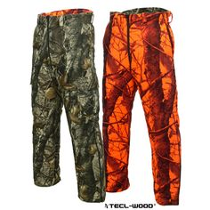 #New #TECLWOODCamo TECL-WOOD Multi-Functional Reversible Camo Hunting Pants