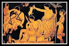 Orestes is purified by the god Apollon at Delphoi, appeasing the Furies (Erinyes) of his mother Klytaimnestra who torment him for the crime of matricide. Artemis watchs. 370 BC.