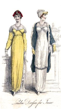 London Dresses for June Yellow Ballgown, Jane Austen Novels, Lace Silk, Prince Of Wales, King George, Fashion Plates, Regency, Ball Gowns, Empire