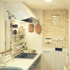tomoさんの、icchiちゃんの、ライオンくん,yupinokoちゃんポスター,キッチン棚には掃除グッズがずらり,ナチュラル同盟♡,DIY,アメブロ更新しました❤,大掃除,Kitchen,のお部屋写真