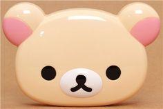 kawaii white Rilakkuma bear face Bento Box Lunch Box 1