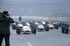 Starting grid of the 1968 Deutschland Trophäe - far left (6) Kurt Ahrens Jr, - Brabham BT23C [BT23C-8] Cosworth FVA - Kurt Ahrens Jr - II Deutschland Trophäe - Martini Gold Cup - 1968 European Trophy for F2 Drivers, Round 1