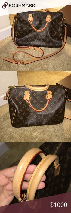 💝Louis Vuitton Speedy Bandouliere 30 Monogram 💯Authentic. In excellent condition! The only stain is inside and its a thin white line shape. Has lock (unlocked) but no keys! No box! Louis Vuitton Bags Satchels