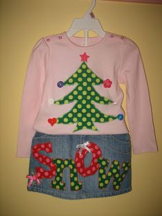 Cute Christmas Applique Designs   Christmas/winter tree appliqué. Could do snow, birds, etc instead of ...