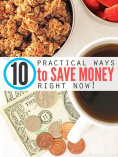 5 Practical Ways to Save Money on Groceries Right Now. Really like the first and second idea.s