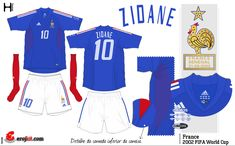 France home kit for the 2002 World Cup Finals.