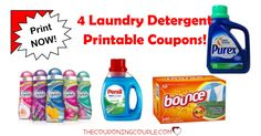 We have 4 Laundry Detergent Printable Coupons available right now. These Laundry Detergent Printable Coupons won't last long!  Click the link below to get all of the details ► http://www.thecouponingcouple.com/laundry-detergent-printable-coupons/ #Coupons #Couponing #CouponCommunity  Visit us at http://www.thecouponingcouple.com for more great posts!