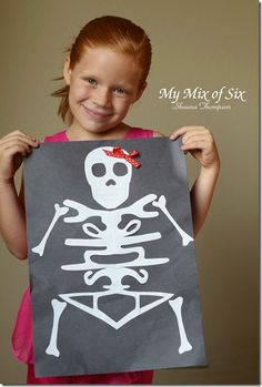 Learn about the skeletal system by crafting a skeleton. You can make an actual replica, or make a unique skeleton with your name (look at the picture sideways)!