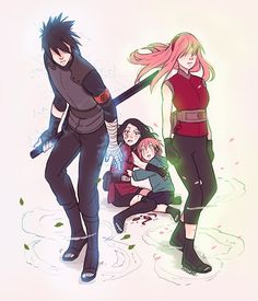 """Don't mess with Mama and Papa Uchiha. I managed to bullshit my way through an assignment and passed this as an image that represents """"protection"""" and """"aggression"""" ??¿¿¿?? hahahaha anyways, duuuuude, they're pissed."""