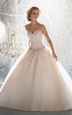 New Style Ball Gown Floor-length Beading Wedding Dress