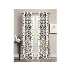Patricia Grommet Curtain Panel in Dark Grey (Set of 2) ❤ liked on Polyvore featuring home, home decor, window treatments, curtains, grommet drapery panels, charcoal curtains, charcoal grey curtains, grommet curtains and grommet draperies