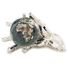 The Black Opalite Gemstone Globe 4-inch Gold World in Your Hand is a great choice for a decorative globe featuring a beautifully crafted hand holding your globe. Manufactured with some of the best quality semi-precious gemstones you will not be disappointed by the layout and presentation of this design. #desktopglobes #floorglobes #oldworldglobes #education #geography #teaching #vintage #toys #gemstoneglobes #handglobes