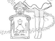 I Mademoiselle Stef Coloring Sheets, Adult Coloring, Coloring Pages, Mon Paris Ysl, Perfume, Black Orchid, Mademoiselle, Illustration, Doodles