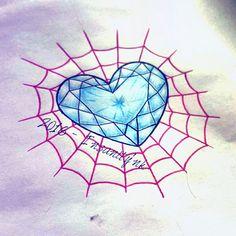 #draw #drawing #design #tattoodraw #tattoodesign #tattoosketch #sketching #tattooartist #tattooflash #hand #occulttattoo #occult #wiccan #witch #creepycute #heart #hearttattoo #cristal #cristalheart #gems #spiderweb #kawaii #kawaiitattoo