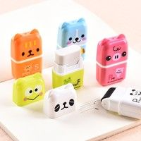 Cheap cartoon erasers, Buy Quality eraser cute directly from China stationery supplies Suppliers: 10 pcs/lot Creative Roller Eraser Cute Cartoon Erasers Children School Stationery Supplies Student Gift School Stationery, Kawaii Stationery, School Suplies, Cute Pens, School Accessories, Back To School Supplies, Cute Stationary School Supplies, Too Cool For School, Student Gifts