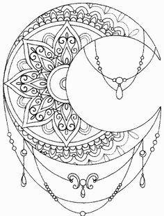 Image result for mandala crescent moon