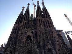 Barcelona, Spain.  Sagrada Familia.