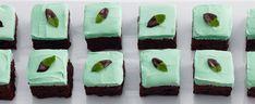 Mint Chocolate Brownie Bars