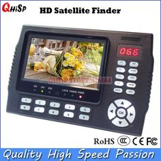 166.50$  Buy now - http://alio6t.worldwells.pw/go.php?t=32504591944 - TV Receiver sat meter 4.3 Inch Portable Multifunctional HD Satellite Finder Monitor dvb s2 mpge 4