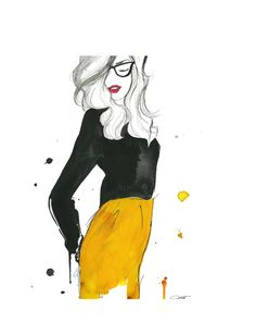 Watercolor Fashion Illustration - The Geek Next Door