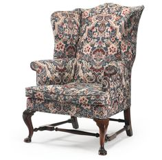 chippendale carved mahogany easy chair c with serpentine crests rail shaped wings and