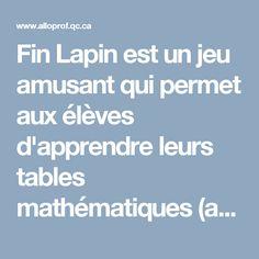 13 jeux pour pratiquer les tables de multiplication - Apprendre la table de multiplication en s amusant ...