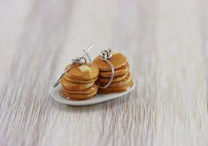 Buttermilk Pancake Earrings by shayaaron on Etsy