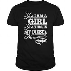 Awesome Tee THIS GIRL LOVE HER DIESEL Shirts & Tees