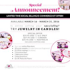 You can join my Jewelry in Candles team for less than $20. It's an excellent extra income. https://www.jewelryincandles.com/store/jfbabco/p/690 is the link to sign up.