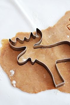it's beginning to feel + smell a lot like Christmas! moose. cookie cutter.