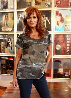 Andrea Berg poses in her studio prior to the Andrea Berg Open Air festival 'Heimspiel' at comtech Arena on July 20, 2013 in Aspach near Stuttagrt, Germany.