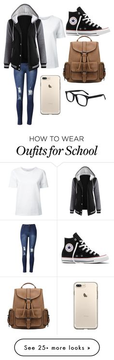 """School #3"" by dairygrunt02 on Polyvore featuring Lemaire and Converse"