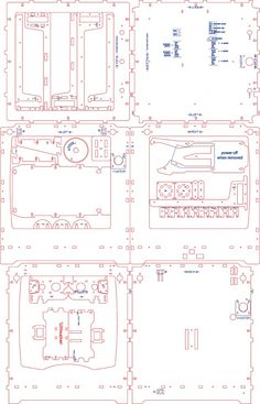 Ultimaker Lasercut Drawings (separate files) by davr.