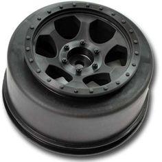 DE Racing Trinidad SC Rear Wheels (1 pair - Black) (Slash/Blitz/Ultima/SCRT 10)