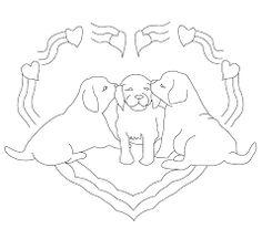 Afbeeldingsresultaat voor honden kleurplaten