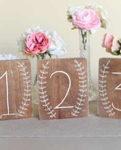 Rustic Wedding Table Numbers NEW 2014 Design by by braggingbags