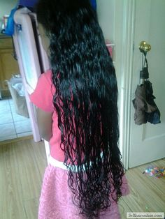 Nice I'm selling hair for cash : Bi-cultural; African American and Filipino Virgin Black, Wavy Hair