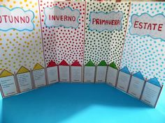 Lapbook I colori delle stagioni - MaestraRenata Valance Curtains, Teaching, Calendar, Classroom, Culture, Education, Valence Curtains, Onderwijs, Learning