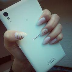 przedłużane żel ;) plus hybryda ;) nails :) paznokcie <3 paseczki ;)
