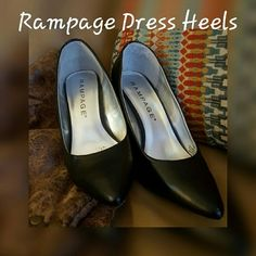 Rampage Dress Pumps These are black every day heels, size 6 true to size. They are in great condition, are worn but well taken care of. Please ask any questions. Thanks for looking. Rampage Shoes Heels