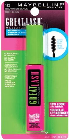Maybelline Great Lash Waterproof Mascara, Brownish Black for only $5.19 You save: $1.21 (19%) + Free Shipping