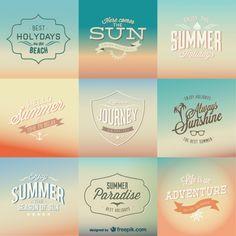 Badges vintages d'été