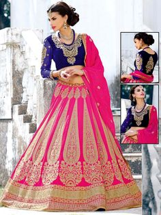 Make your day most memorable and lovable with this ensemble.  Item Code: GHP1119 http://www.bharatplaza.com/new-arrivals/lehengas.html