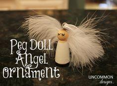 diy peg doll angel ornament! So cute!