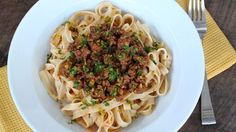 Lamb Ragu Tagliatelle with Citrus, Saffron and Mint