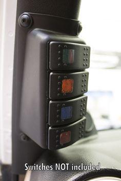 Daystar A-Pillar switch mount for the Jeep Wrangler JK