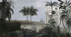 "Résultat de recherche d'images pour ""saint domingue paysage"" Haiti, Zuber Wallpaper, Grisaille, Illustrations, Wabi Sabi, Pattern Wallpaper, Decoration, Countryside, Images"